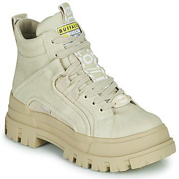 Skor Dam Boots Buffalo ASPHA NC MID Beige