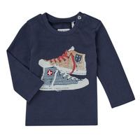 textil Pojkar Långärmade T-shirts Ikks AURORE Marin