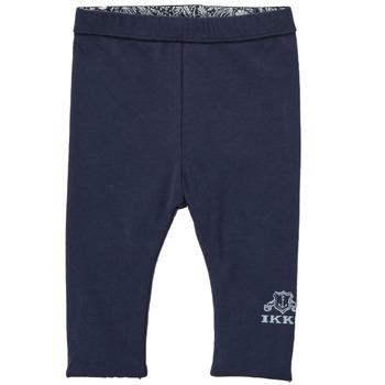 textil Flickor Leggings Ikks BOUTON D'OR Marin