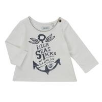 textil Flickor Långärmade T-shirts Ikks CHOCOLAT Vit