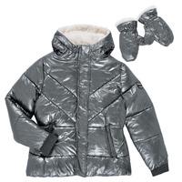 textil Flickor Täckjackor Ikks OLIVE Silverfärgad