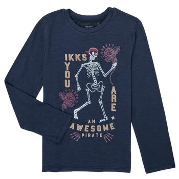 textil Pojkar Långärmade T-shirts Ikks PRUNE Marin