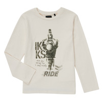 textil Pojkar Långärmade T-shirts Ikks CERISE Vit