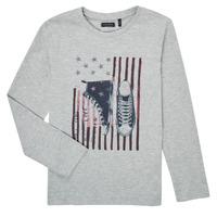 textil Pojkar Långärmade T-shirts Ikks SAPHIR Grå