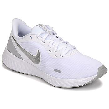 Skor Dam Träningsskor Nike WMNS NIKE REVOLUTION 5 Vit / Silverfärgad