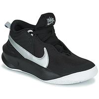 Skor Barn Höga sneakers Nike TEAM HUSTLE D 10 (GS) Svart / Silverfärgad