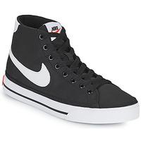 Skor Dam Sneakers Nike W NIKE COURT LEGACY CNVS MID Svart / Vit
