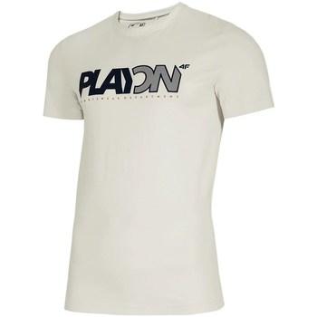 textil Herr T-shirts 4F TSM013 Vit