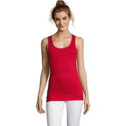 textil Dam Linnen / Ärmlösa T-shirts Sols Jane - CAMISETA MUJER SIN MANGAS Rojo