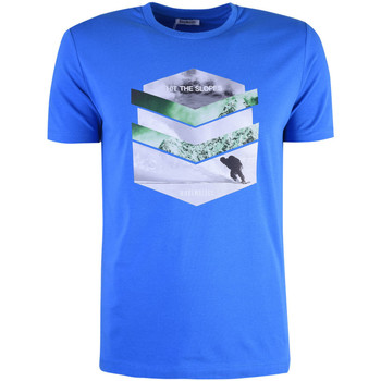 textil Herr T-shirts Bikkembergs  Blå