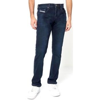textil Herr Stuprörsjeans True Rise Jeans A Bla Blå