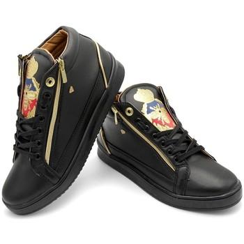 Skor Herr Höga sneakers Cash Money Heren Sneakers Prince Full Black Zwart Svart