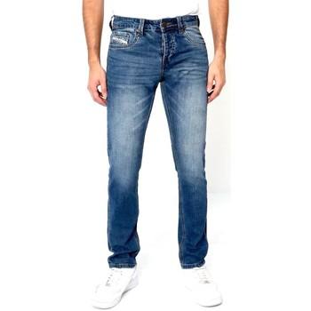 textil Herr Stuprörsjeans True Rise Jeans Stretch A Bla Blå