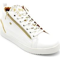 Skor Herr Höga sneakers Cash Money Heren Sneaker Majesty White Gold Wit Vit