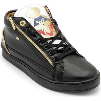 Skor Herr Höga sneakers Cash Money Heren Sneaker Prince Black White Zwart Svart
