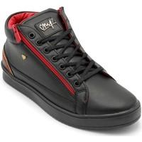 Skor Herr Höga sneakers Cash Money Heren Sneaker Cesar Black Red Zwart Svart