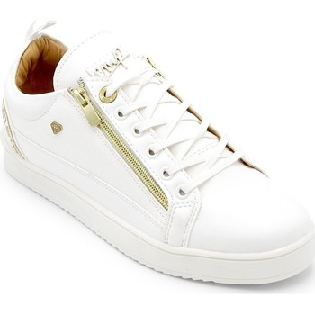 Skor Herr Sneakers Cash Money Heren Sneakers Cesar Full White Wit Vit