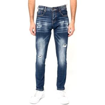 textil Herr Stuprörsjeans True Rise Jeans Stretch D Bla Blå