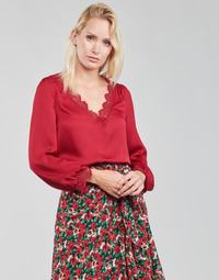 textil Dam Blusar Moony Mood ABITAIN Röd