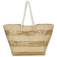 Väskor Dam Shoppingväskor Betty London  Beige / Guldfärgad