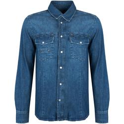textil Herr Långärmade skjortor Bikkembergs  Blå