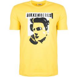 textil Herr T-shirts Bikkembergs  Gul