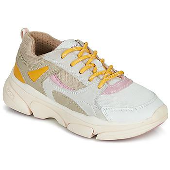 Skor Flickor Sneakers Geox J LUNARE GIRL Beige