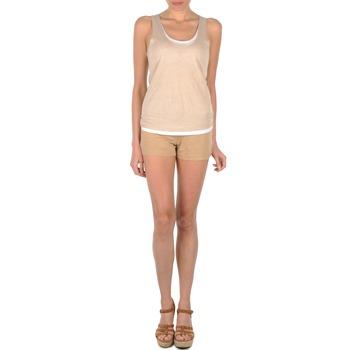 textil Dam Shorts / Bermudas Majestic SOLENE Beige