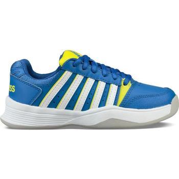Skor Barn Tennisskor K-Swiss Chaussures enfant  ks tfw court smash bleu foncé/jaune/blanc