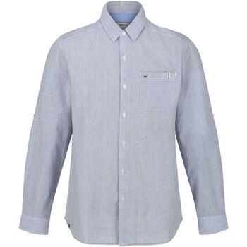 textil Herr Långärmade skjortor Regatta  Dammig blå rand
