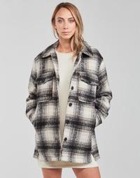 textil Dam Jackor & Kavajer Only ONLALLISON Svart / Benvit