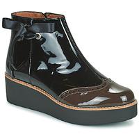 Skor Dam Boots Fericelli JANDICI Svart / Brun