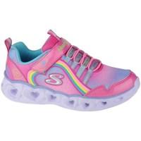 Skor Flickor Fitnesskor Skechers Heart Lights Rainbow Lux Rosa