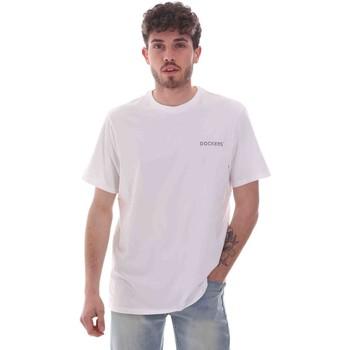 textil Herr T-shirts Dockers 27406-0115 Vit