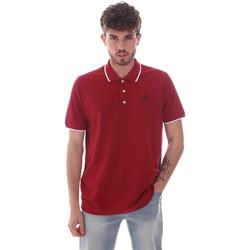 textil Herr Kortärmade pikétröjor Key Up 2Q711 0001 Röd