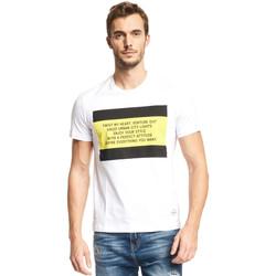 textil Herr T-shirts Gaudi 111GU64071 Vit