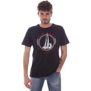 textil Herr T-shirts Navigare NV31113 Blå