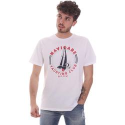 textil Herr T-shirts Navigare NV31113 Vit