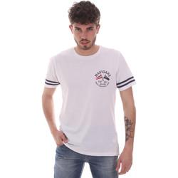 textil Herr T-shirts Navigare NV31123 Vit