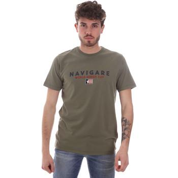 textil Herr T-shirts Navigare NV31139 Grön