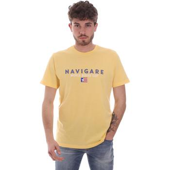 textil Herr T-shirts Navigare NV31139 Gul