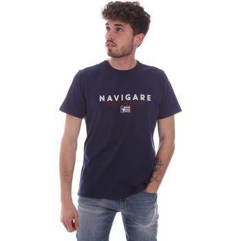 textil Herr T-shirts Navigare NV31139 Blå