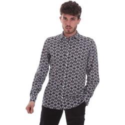 textil Herr Långärmade skjortor Antony Morato MMSL00614 FA430480 Svart