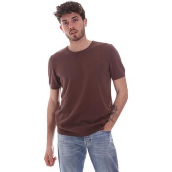 textil Herr T-shirts Gaudi 111GU53004 Brun