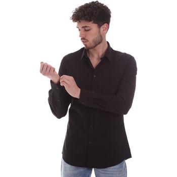 textil Herr Långärmade skjortor Gaudi 111GU45001 Svart