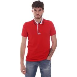 textil Herr Kortärmade pikétröjor Gaudi 111GU64105 Röd