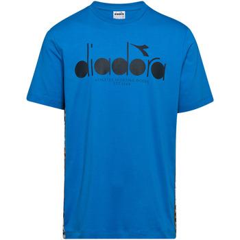 textil Herr T-shirts Diadora 502176630 Blå