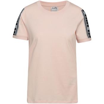 textil Dam T-shirts Diadora 502175812 Rosa