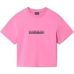 textil Dam T-shirts Napapijri NP0A4FHG Rosa