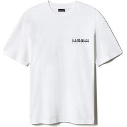 textil T-shirts Napapijri NP0A4F4R Vit